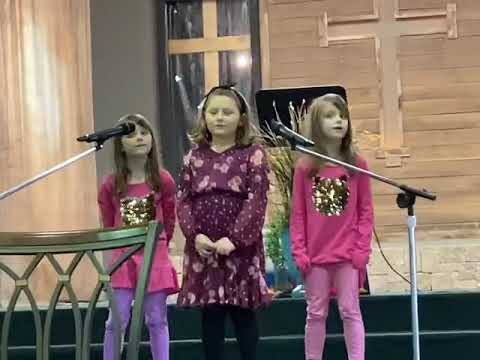 At Church The Girls Sang Ask Seek Knock Song