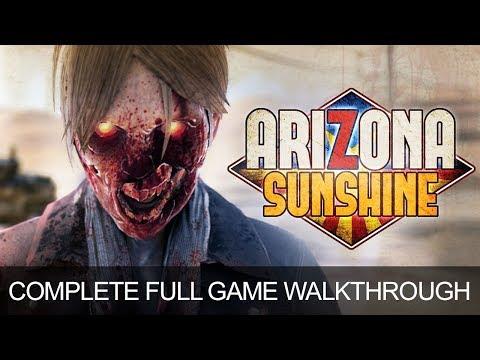Arizona Sunshine Full Game Complete Walkthrough Longplay Ending PS4 Pro PSVR Gameplay 1080p 60fps