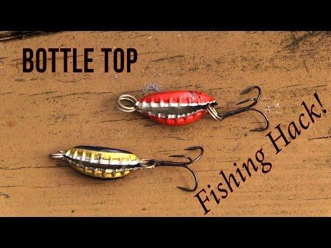 Homemade Bottle Top Lure - Fishing Hack