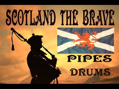 ⚡️SCOTLAND  THE   BRAVE ⚡️ PIPES & DRUMS ( HD )⚡️