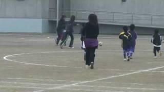 親子サッカー 1年VS母1