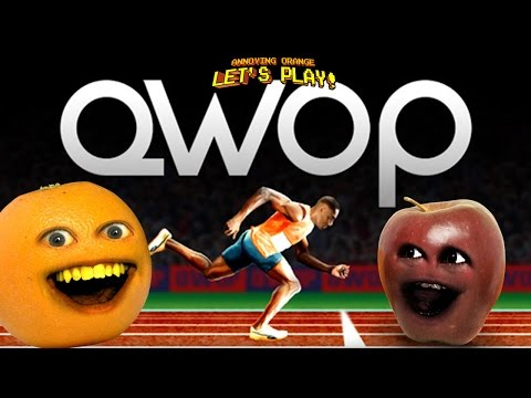 Annoying Orange and Midget Apple Play - QWOP