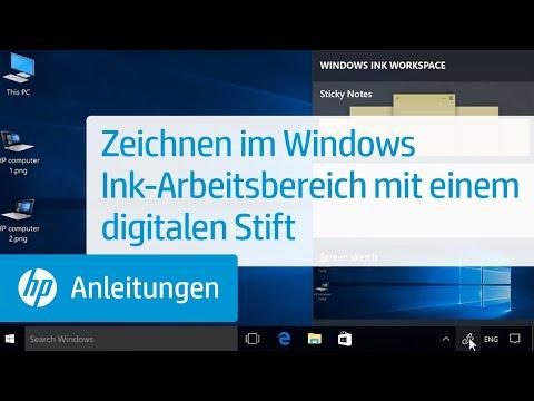 Zeichnen im Windows Ink-Arbeitsbereich mit einem digitalen Stift