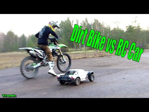 Dirt Bike vs RC Car