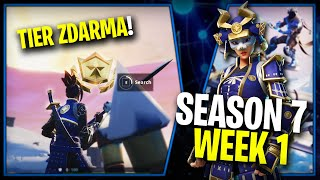 WHERE is the FIRST FREE TIER FOR SEASON 7 (Week 1)-Fortnite Battle Royale CZ/SK