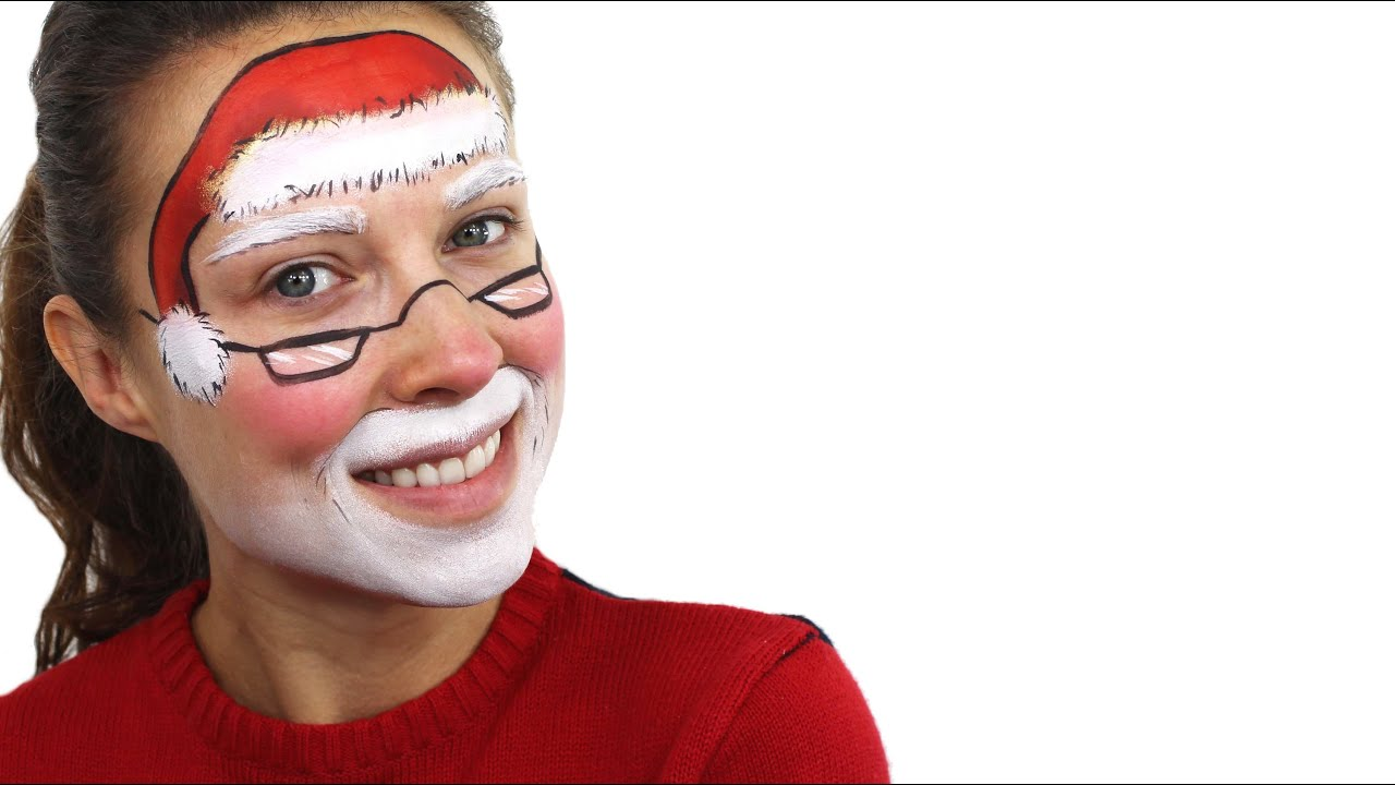 Christmas Face Paint.Christmas Santa Face Paint Tutorial Snazaroo