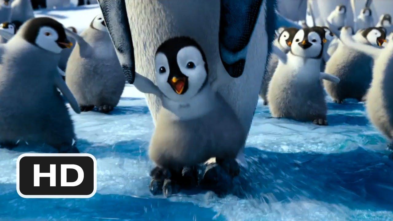 Cute Cartoon Penguins Wallpaper Happy Feet 2 In 3d 3 Movie Clip Hop On My Feet 2011