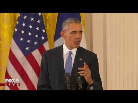 President Obama Meets with President of France