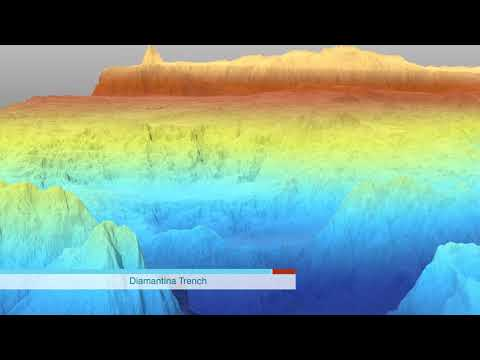 Geological feature Broken Ridge   Diamantina Trench