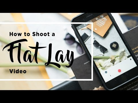 How To Make A Flay Lay Video Using Stop Motion, All From Your Phone With A DIY Overhead Tripod