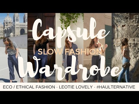 Slow Fashion Eco + Ethical Spring Capsule Wardrobe | 8 Items, 18 Outfits, Day to Night