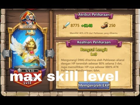 #170 Up Mini Angi To Max Skill Level Castle Clash