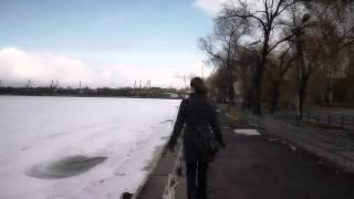 girl walking on the port