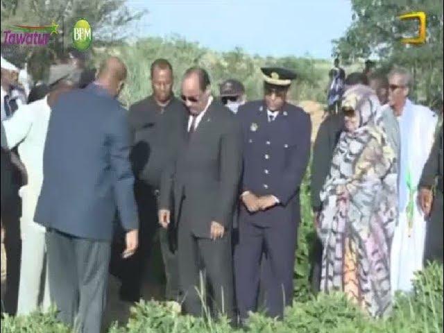 زيارة الرئيس للنعمة | تدشين مشروع إنتاج العلف في موريتانيا