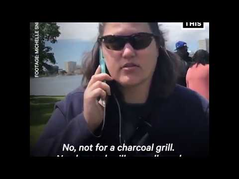 Whitewoman cries becoz black people are bbq in the park. Who made her the police of charcoal grill