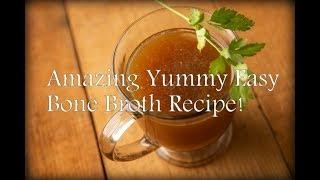 BONE BROTH - EASY BASIC DELICIOUS RECIPE! Ketogenic Diet Basic Recipe - Paleo/Keto Collagen Broth