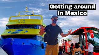 Ultramar Ferry and ADO Bus Public Transportation | Mexico Travel Day Vlog