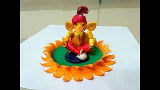 Making lotus for decoration ganesh festival