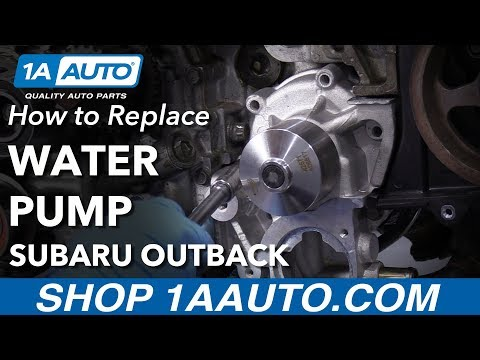 How to Replace Water Pump 05-09 Subaru Outback