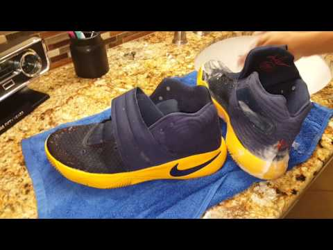 Cleaning kyrie 2s!!