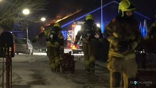 Felle brand in schuur van Rundveemuseum in Aartswoud, koeien gered * 07-03-2021