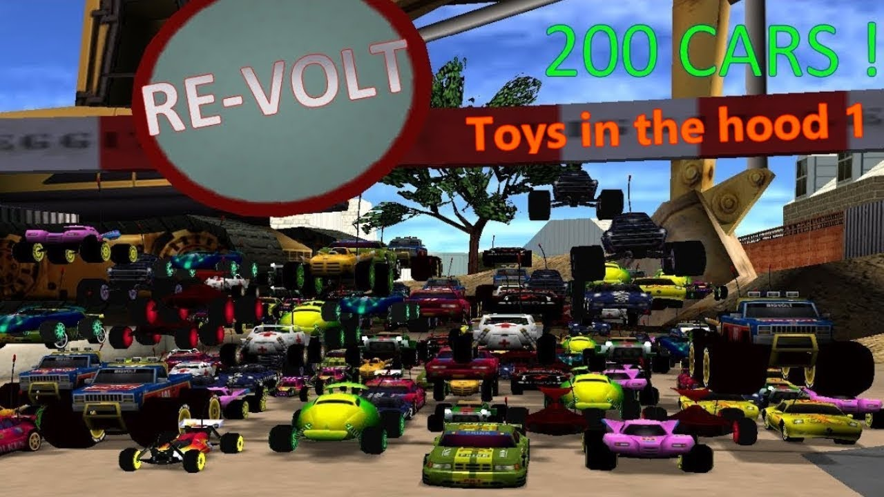 Re Volt 200 Cars Race Toys In The Hood