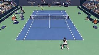 Full Ace Tennis Simulator - Roger Federer vs Novak Djokovic - PC Gameplay