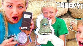 Monster Hunting! We Found The Living Rock Creature!