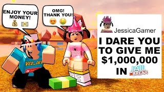 DARES ON ROBLOX #21 FUNNY AND COOL!