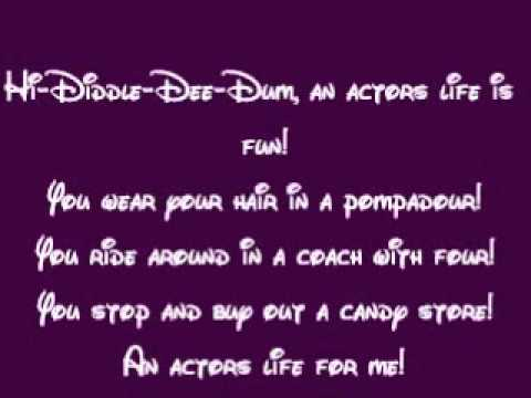 Pinocchio-Hi-Diddle-Dee-Dee (An Actor's Life For Me) Lyrics