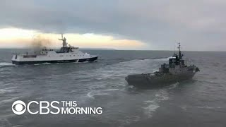 Russia opens fire and seizes 3 Ukrainian vessels near Crimea