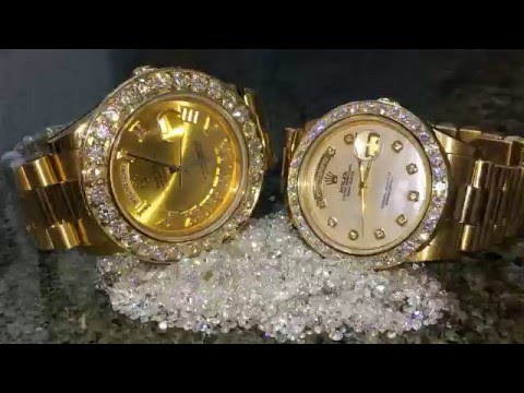 Custom Rolex  Diamond Watches