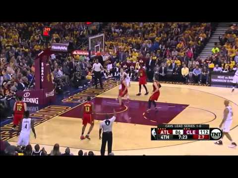 Cleveland Cavaliers bounce ball off opponent's face for assist - May 4 2016, Game 2