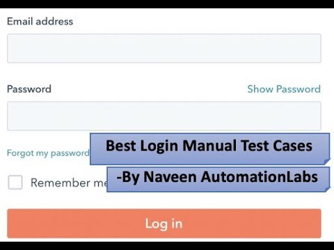 Best Login Page Manual Test Cases - Manual Testing Interview Questions -  Must to know