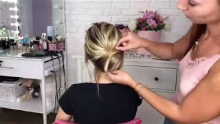 Видео-урок #2 «Как сделать низкий пучок?»