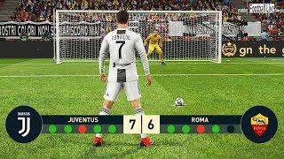 PES 2019 | Juventus FC vs AS Roma | Penalty Shootout | C.Ronaldo vs Roma | Gameplay PC