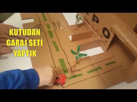 Karton Kutudan garaj seti yaptık | ABC KEREM