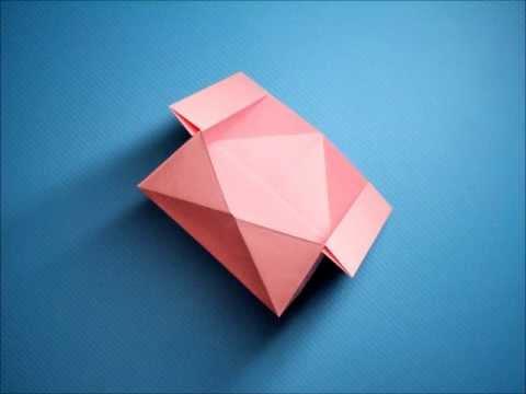 ハート 折り紙:折り紙箱六角形折り方-youtube.com