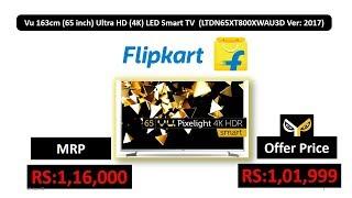 Vu 163cm 65 inch Ultra HD 4K LED Smart TV LTDN65XT800XWAU3D Ver 2017