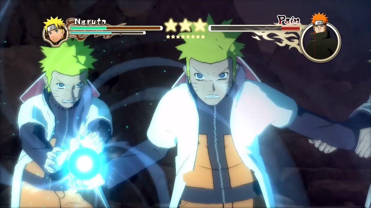 Naruto Ultimate Ninja Storm 2 MOD 60 FPS Hokage Vs Pain Boss Battle Character Swap