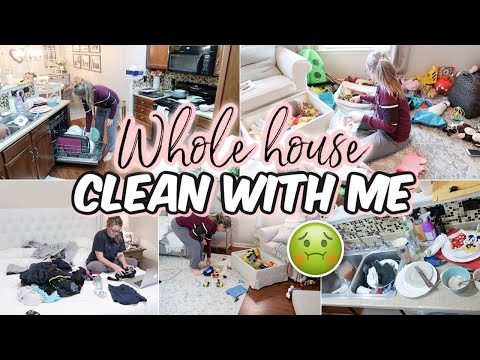 Complete Disaster CLEAN WITH ME   Clean House   Clean Up With Me   EXTREME CLEANING MOTIVATION