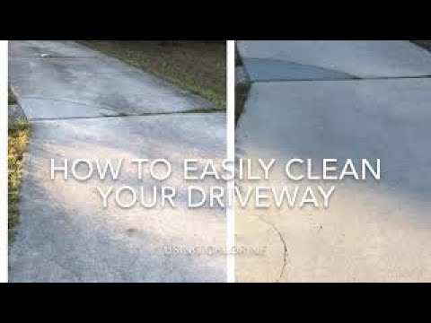 How To Clean Your Driveway With Regular Pool Chlorine And A Pump Sprayer