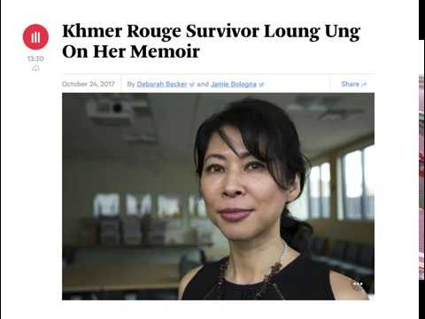 Khmer Rouge Survivor Loung Ung On Her Memoir - Radio Boston on 24 Oct 2017
