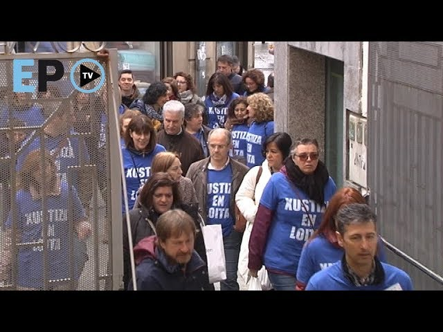 El funcionariado de Justicia de Lugo, en huelga, realiza un segundo acto solidario