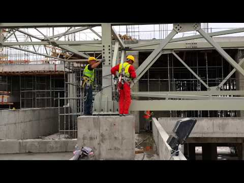 Erection of Long and Heavy Roof Steel Structure 2 - Selamettin DAYAN