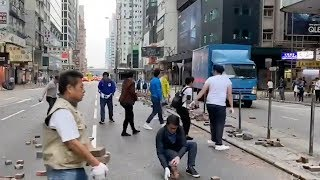 More Hong Kong residents voluntarily clean up streets