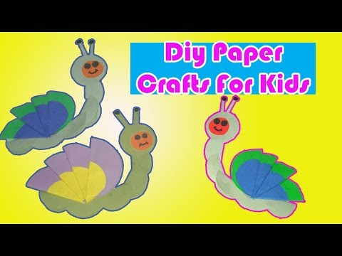 Diy Paper Craft|Paper Crafts For Kids|How To Make A Caterpillar|Make a Paper Animal Origami