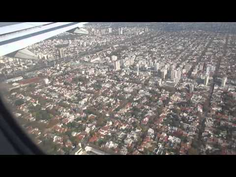Landing in Buenos Aires Jorge Newbery Airport with a beautiful view of the city - May 15, 2015