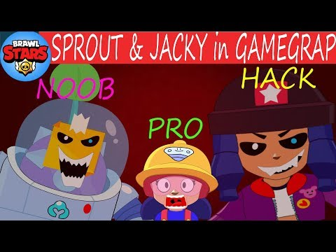 JACKY NEW BRAWLER SPROUT & JACKY in GAMEGRAP - BiBi RIP Bea - Brawl Stars Animation Funny
