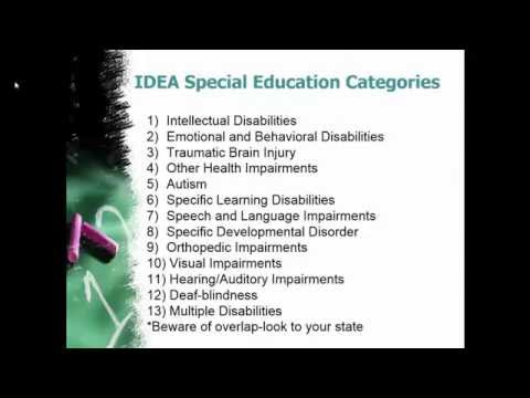 Special Education Categories in 5 Minutes or Less